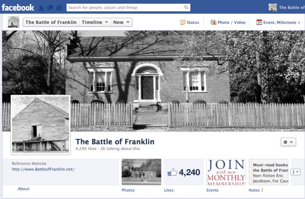 Battle of Franklin Facebook Group