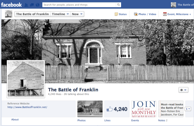 Battle of Franklin Facebook Group