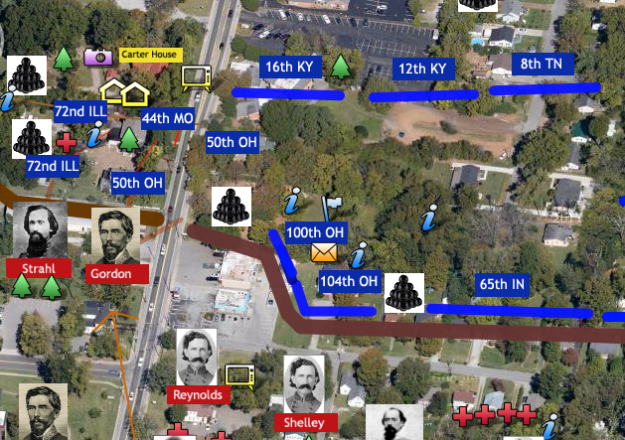 This Google map is accessible at www.FranklinBattlefield.com