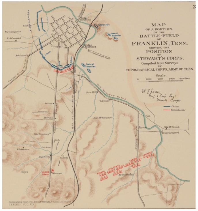 Franklin Tn Map Map – The Battle of Franklin, November 30, 1864